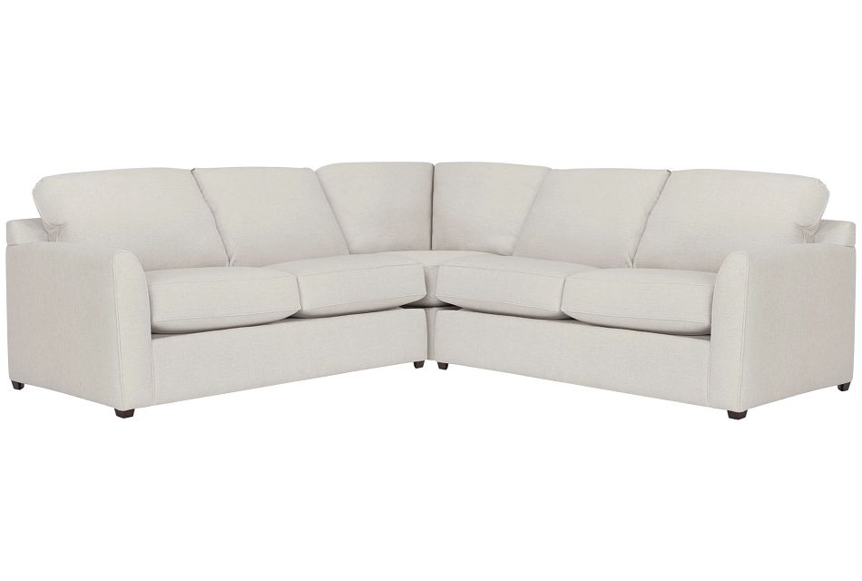 Asheville Light Taupe Cool Mfoam Two-arm Right Memory Foam Sleeper Sectional