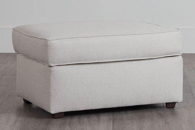 Ripley Light Beige Fabric Ottoman (0)