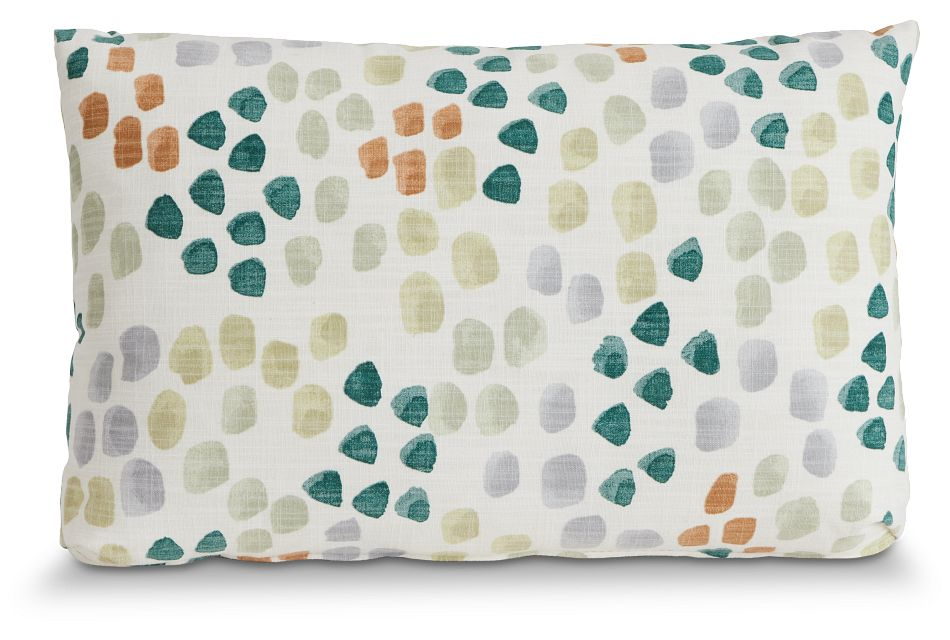 Pfeiffer Green Fabric Lumbar Accent Pillow,  (1)