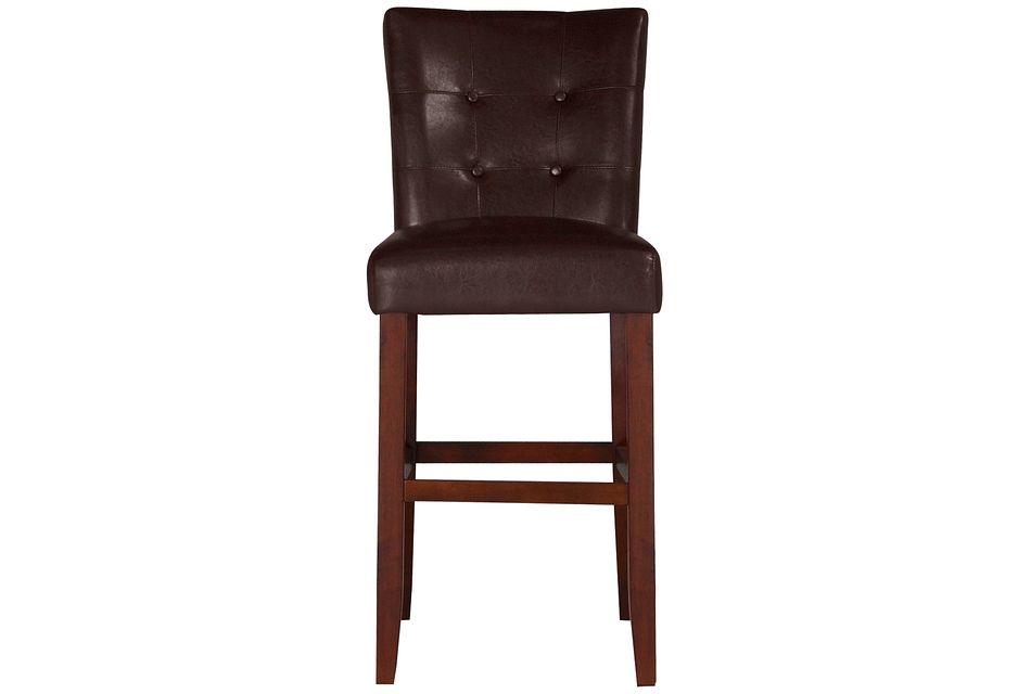 """City Lights Dark Brown  30"""" Upholstered Barstool,"""
