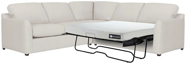 Asheville Light Taupe Cool Mfoam Two-arm Right Memory Foam Sleeper Sectional (2)
