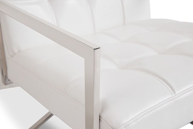 Stark White Uph Accent Chair