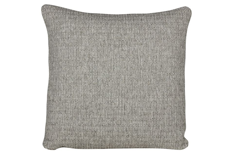 Austin Gray Fabric Square Accent Pillow