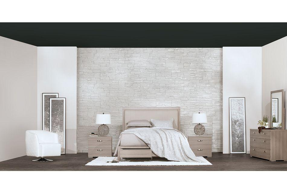 Caelan Light Tone Uph Platform Storage Bedroom