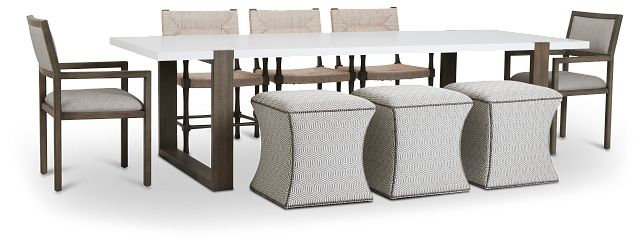 Hadleigh Two-tone Rectangular Table And Mixed Chairs (1)