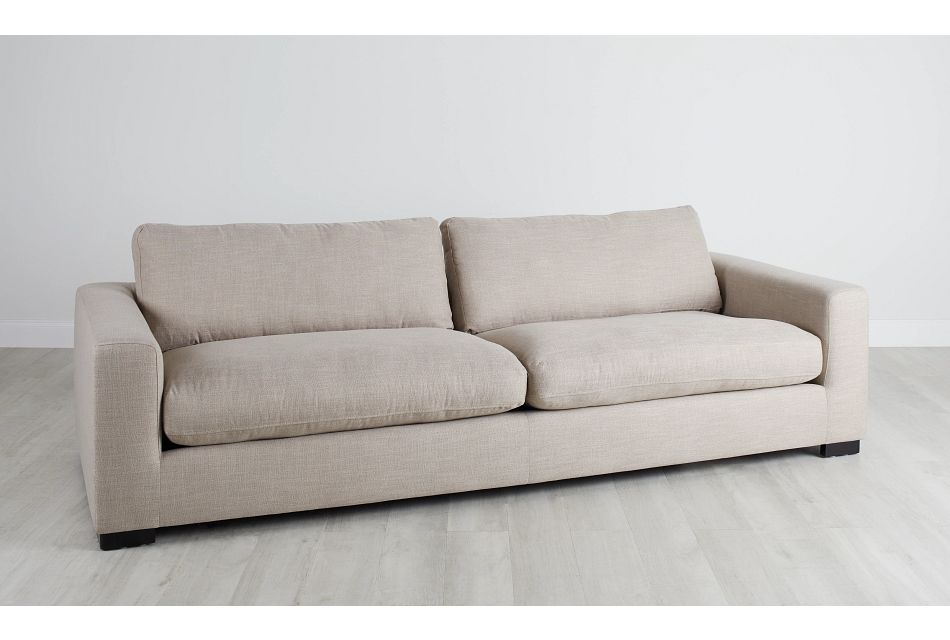 "Bohan 103"" Pewter Fabric Sofa,  (0)"