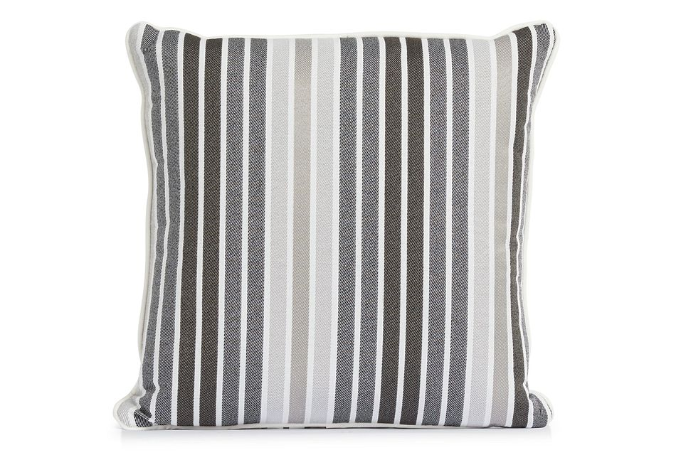 """Spring Gray 18"""" Indoor/outdoor Square Accent Pillow"""