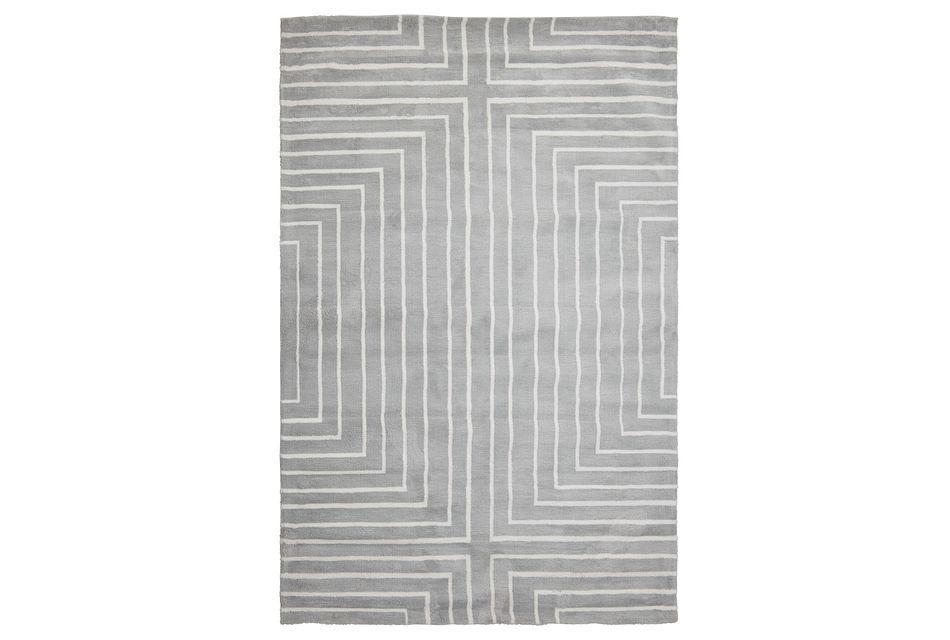 Linea Gray 8x10 Area Rug