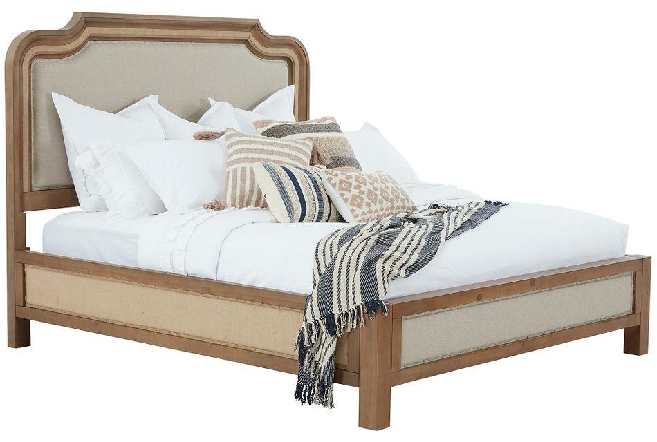 Stratum Light Tone Uph Panel Bed