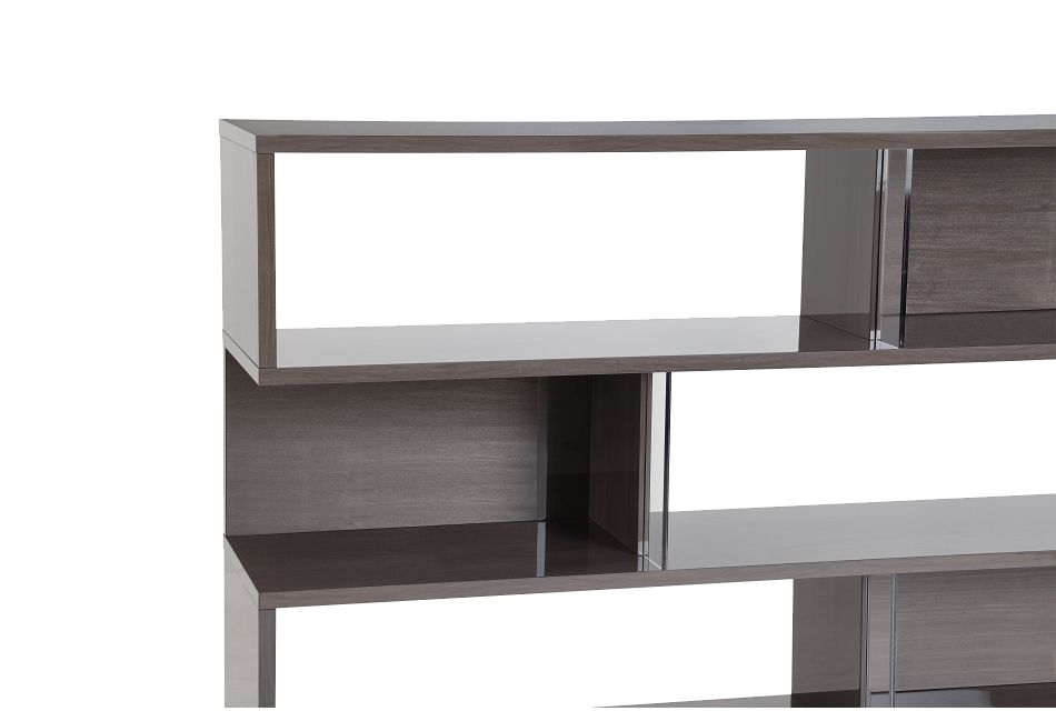 Athena Dark Gray Bookcase