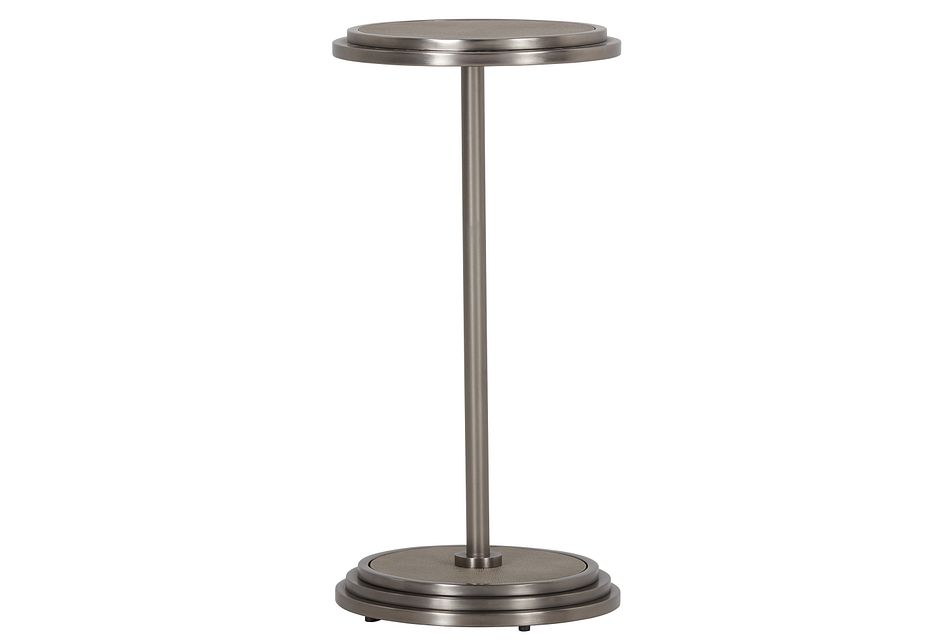 Mosaic Metal Round End Table