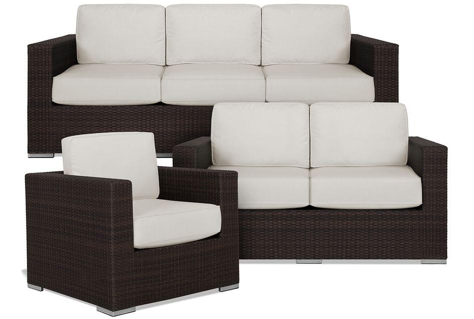Fina White Outdoor Living Room Set,
