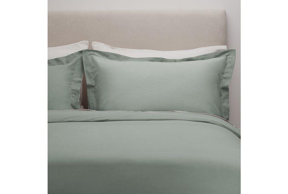 Linen Blend Blue Duvet Set