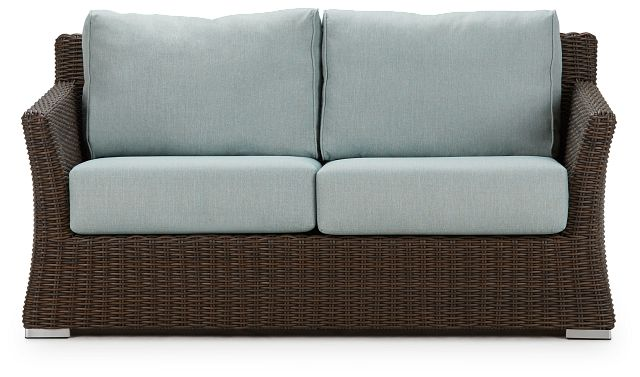 Southport Teal Woven Loveseat (0)