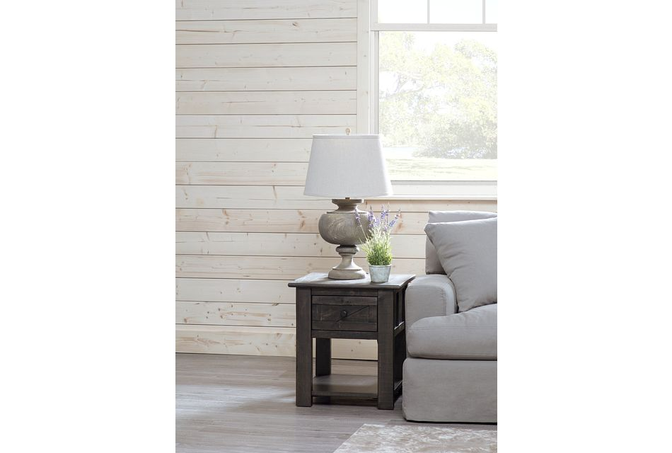 Garrett Dark Tone Storage End Table