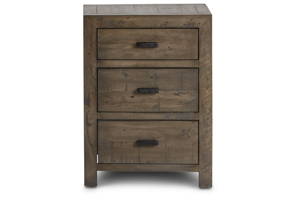 Seattle Gray 3-drawer Nightstand