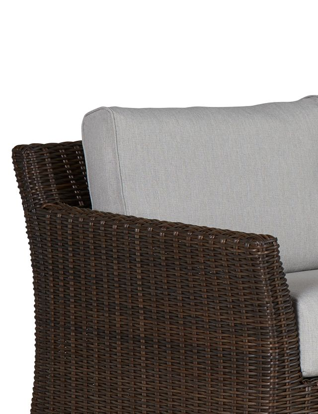 Southport Gray Woven Small Two-arm Sectional (3)