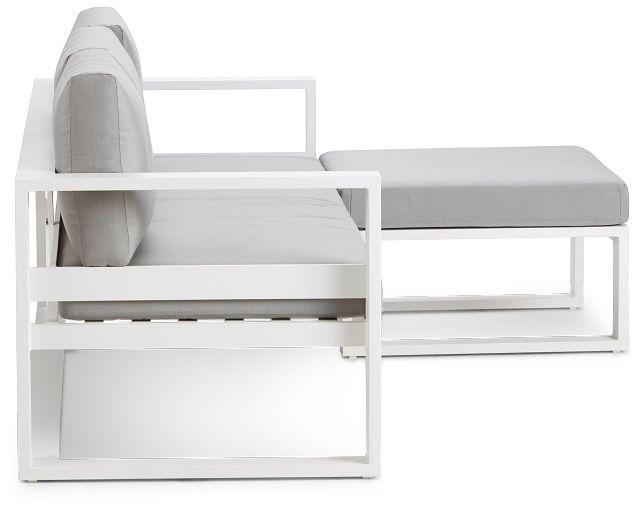 Lisbon Gray Aluminum Chaise Sectional (0)