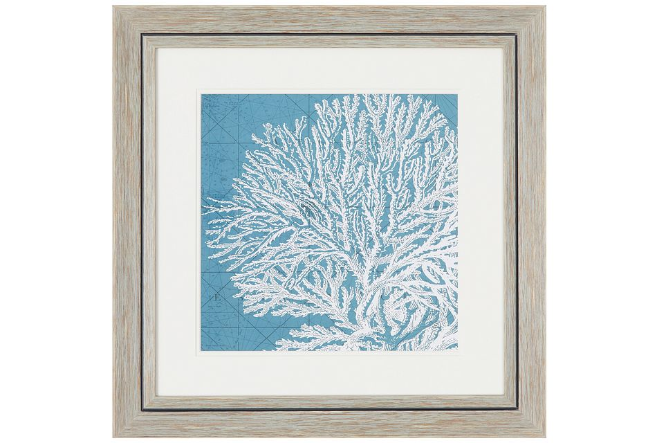 Reef Blue Framed Wall Art