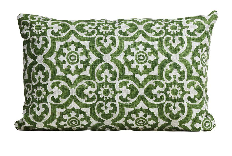 Athens Green Lumbar Indoor/outdoor Accent Pillow