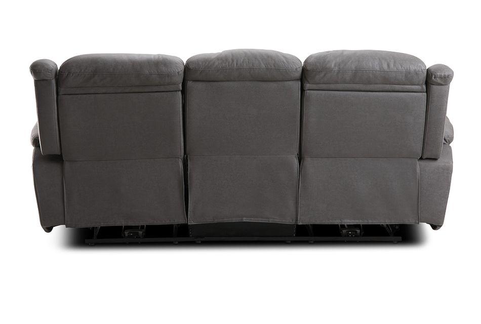 Calvin Light Gray Micro Power Reclining Sofa