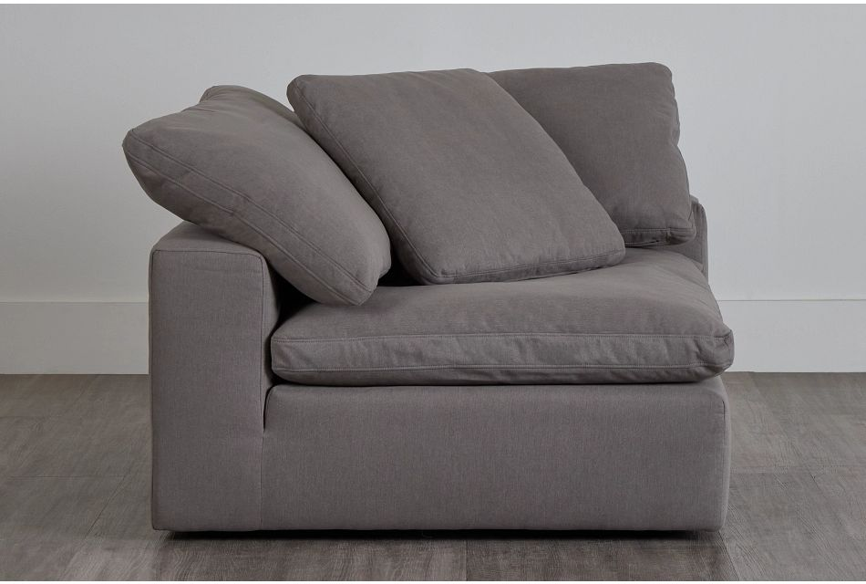 Nixon Light Gray Fabric Corner Chair,  (0)
