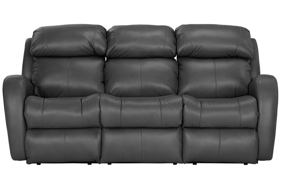 Finn Gray Micro Power Reclining Sofa