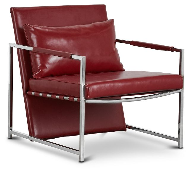 Russell Red Uph Accent Chair (1)