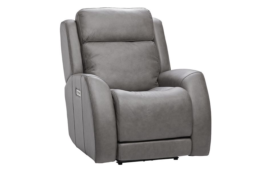Rawlings Dark Gray Leather Power Recliner