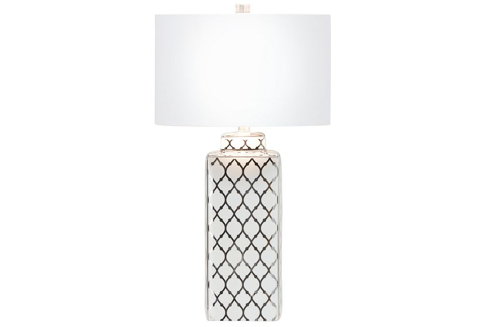 Sydney Silver Table Lamp