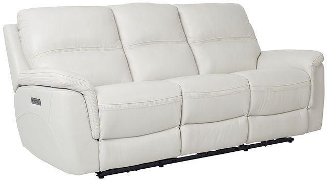 Bryson Light Gray Lthr/vinyl Power Reclining Sofa (2)