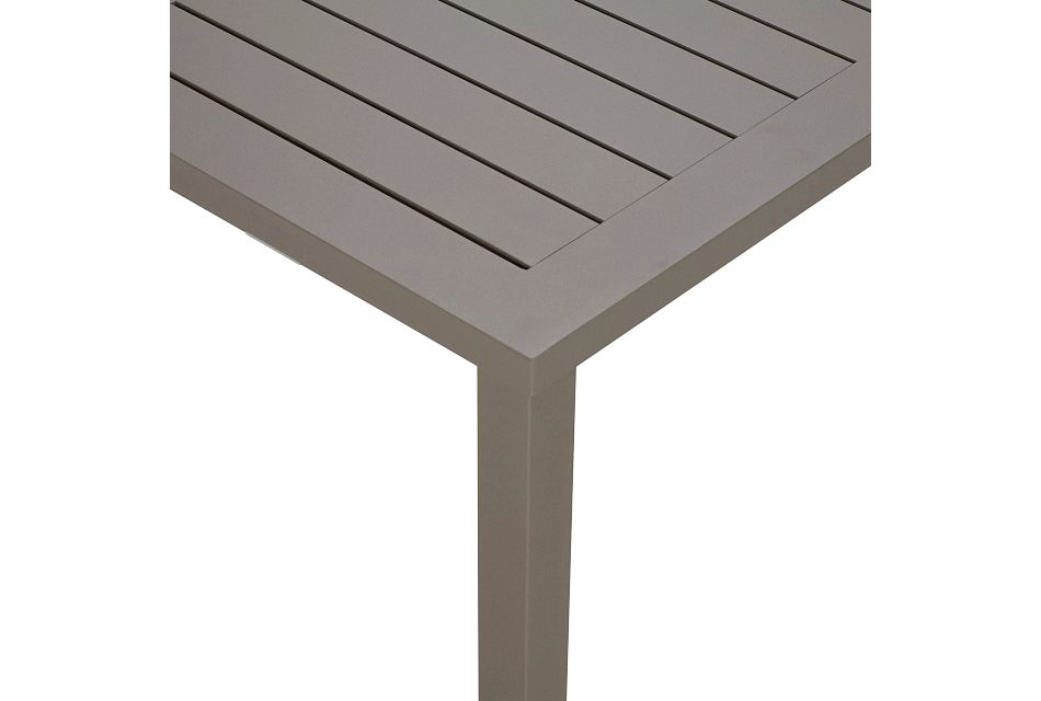 Raleigh Taupe Aluminum Coffee Table
