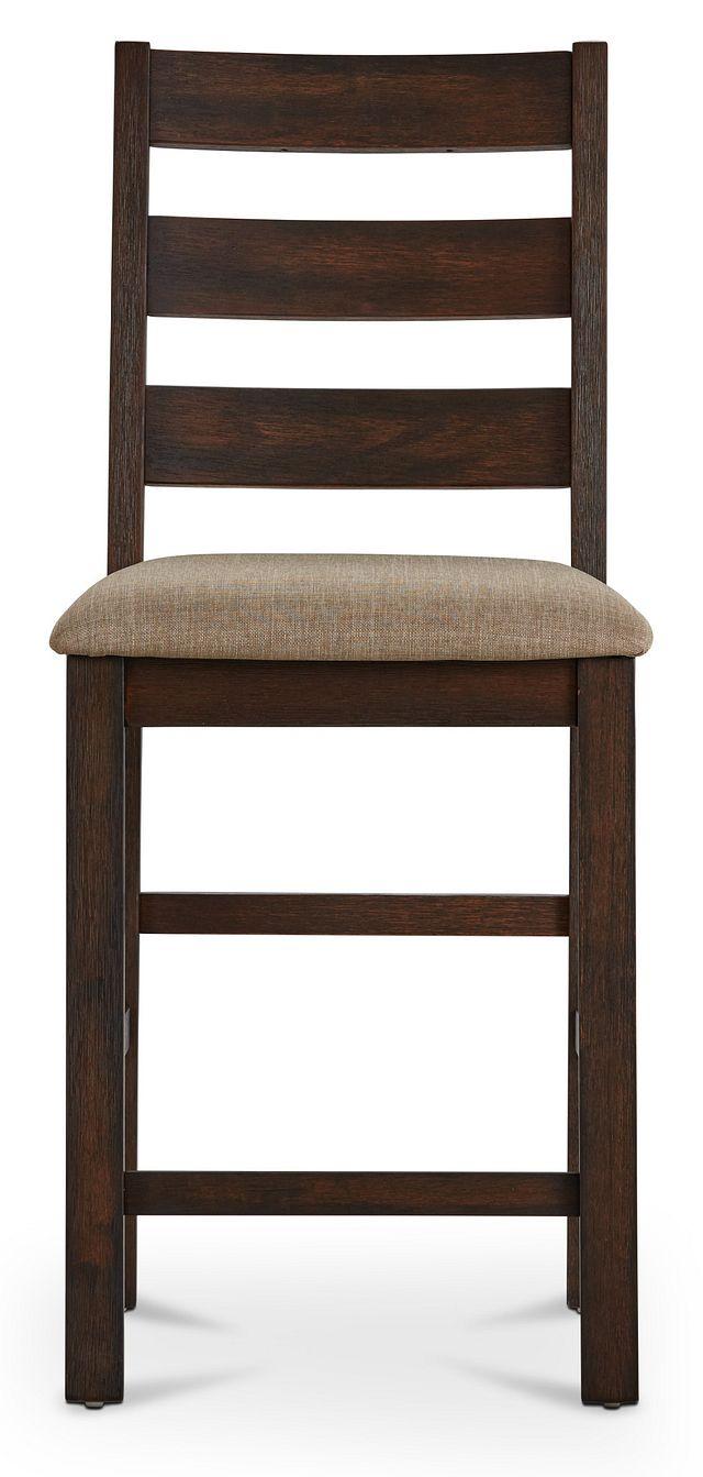 """Holden Dark Tone 24"""" Upholstered Barstool"""