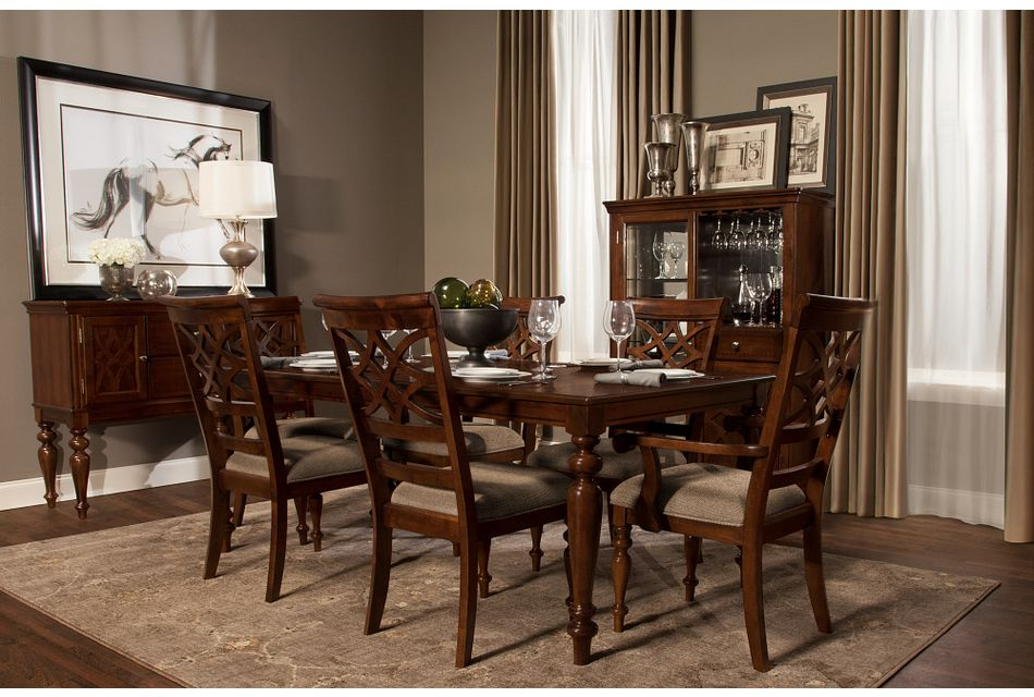 Oxford Mid Tone Rect Dining Room,  (1)