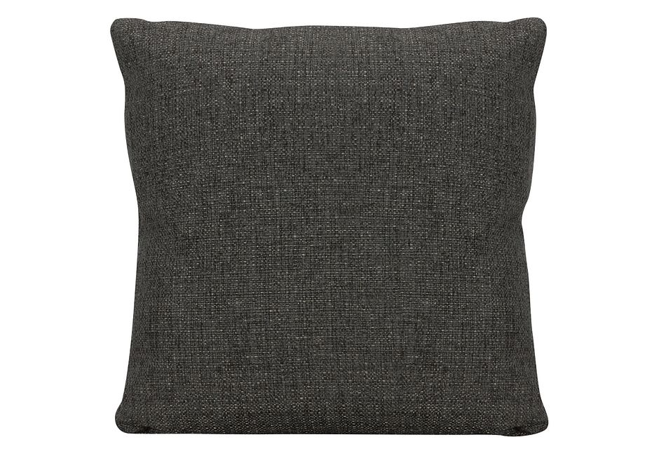 Veronica Dark Brown Fabric Square Accent Pillow