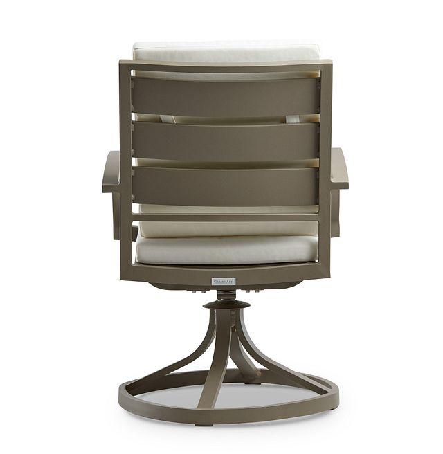 Raleigh White Swivel Arm Chair (3)