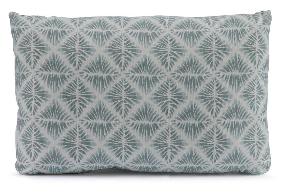 Gem Field Light Teal  Lumbar Accent Pillow,  (0)