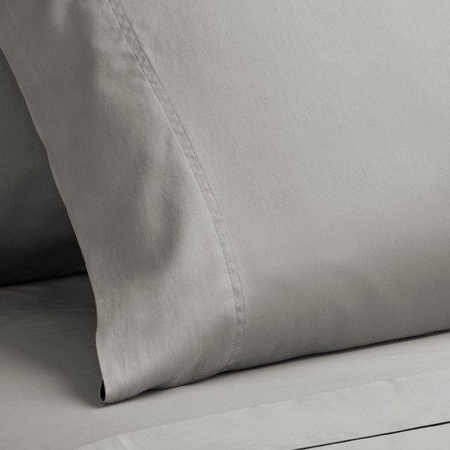 Egyptian Cotton Gray 400 Thread Sheet Set (3)
