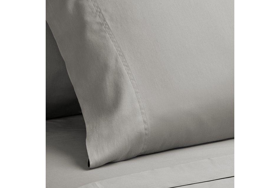 Egyptian Cotton Gray 400 Thread Sheet Set, Queen (3)