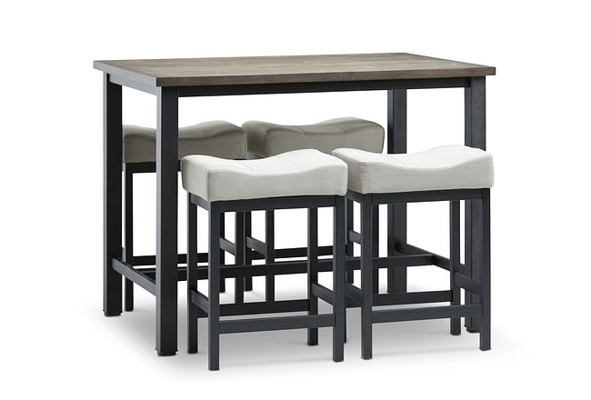 Roland Light Tone High Table & 4 Stools