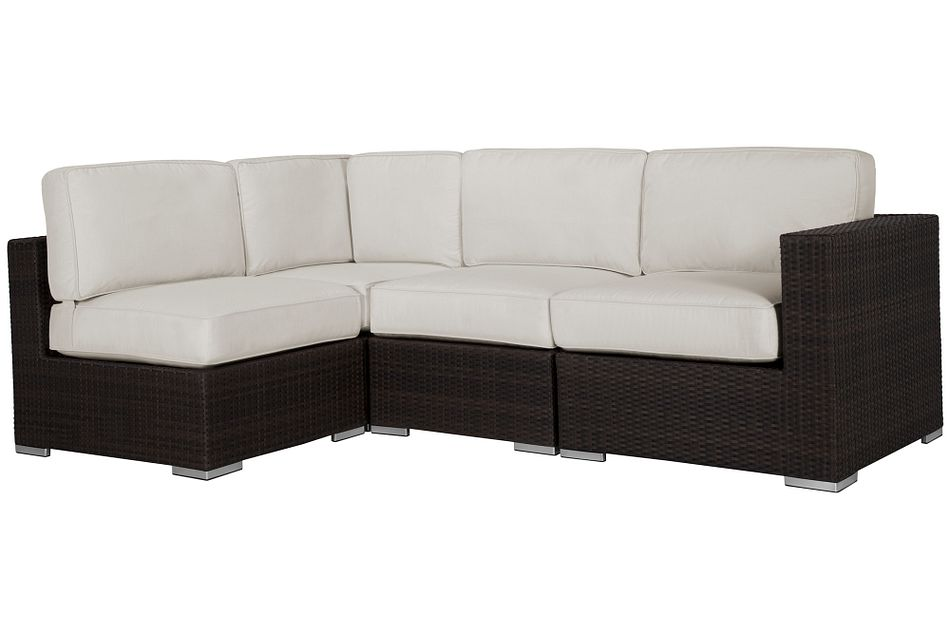 Fina White 4-piece Modular Sectional