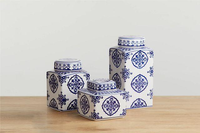Dirk Dark Blue Medium Jar (0)
