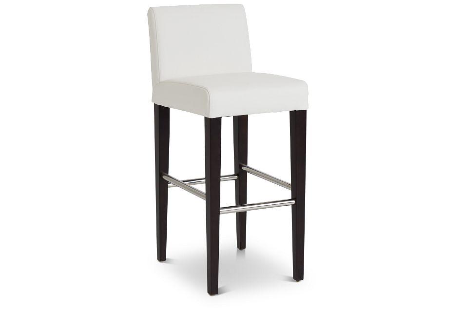 "Cane Whitemicro 30"" Upholstered Barstool,  (1)"