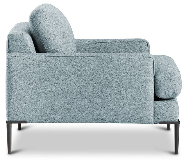 Morgan Teal Fabric Chair With Metal Legs (0)