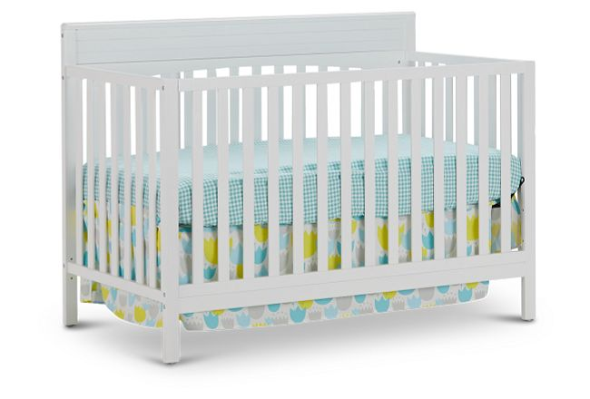 Parker White 4-in-1 Crib