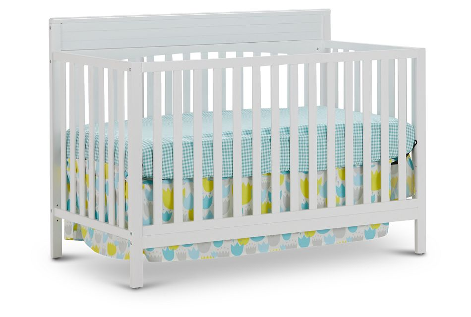 Parker White 4-In-1 Crib, %%bed_Size%% (1)
