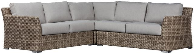 Raleigh Gray Woven Small Two-arm Sectional (0)