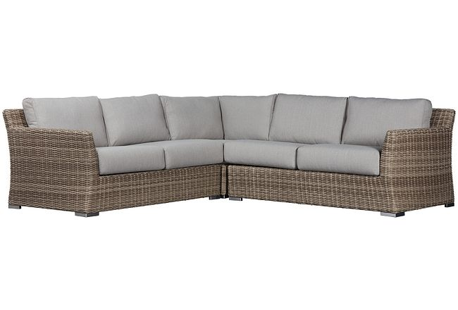Raleigh Gray Woven Small Two-arm Sectional