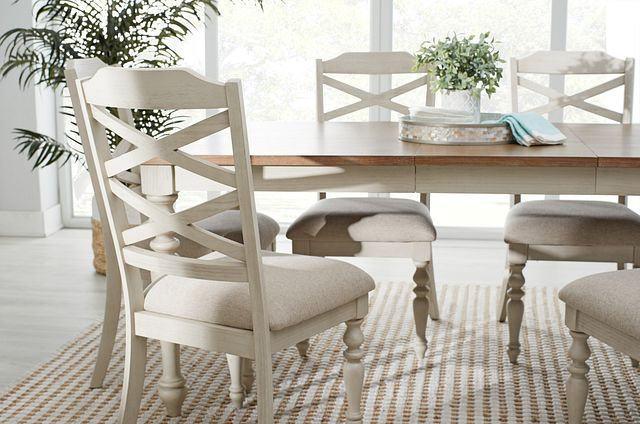 Lexington Two-tone Table & 4 Chairs (1)