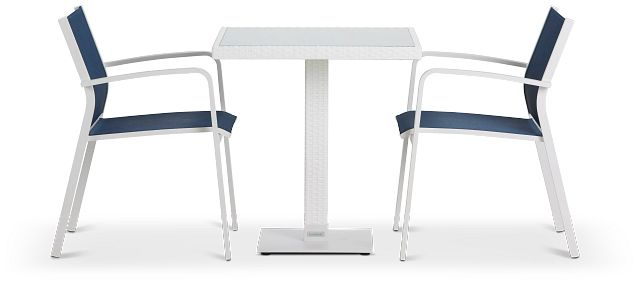 """Lisbon Navy 27"""" Square Table & 2 Chairs (1)"""